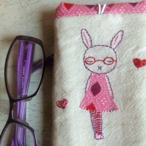 Pink rabbits detail
