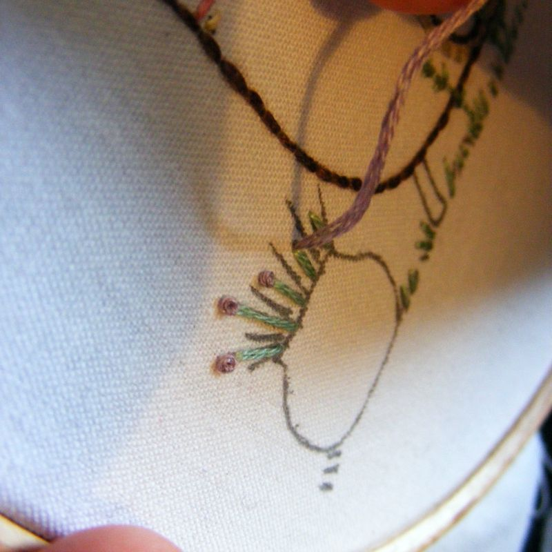 French knot tutorial 1
