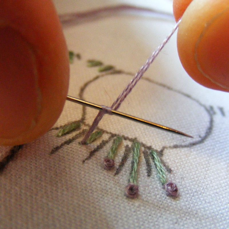 French knot tutorial 3