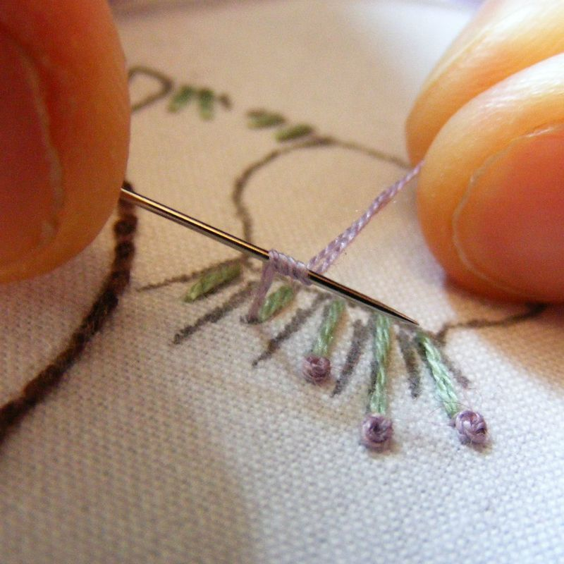 French knot tutorial 4