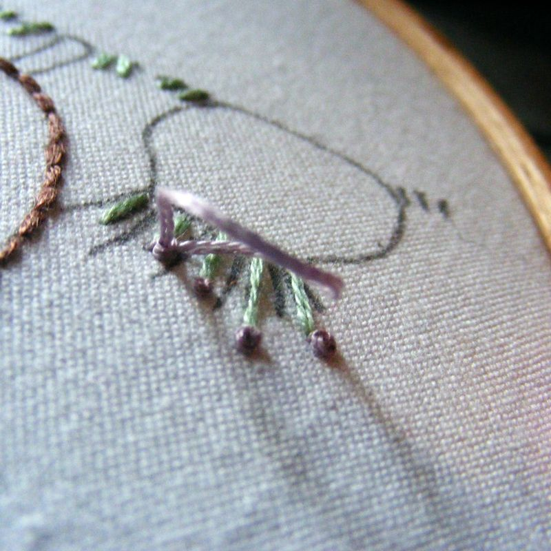 French knot tutorial 6