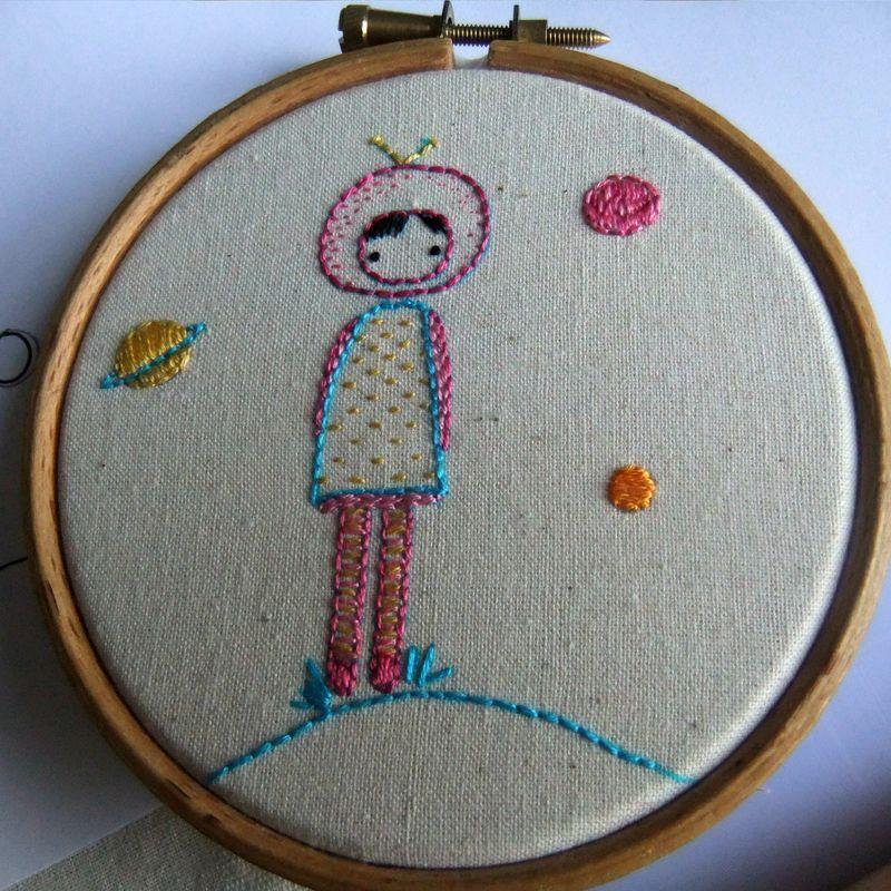 Astronaut in a hoop