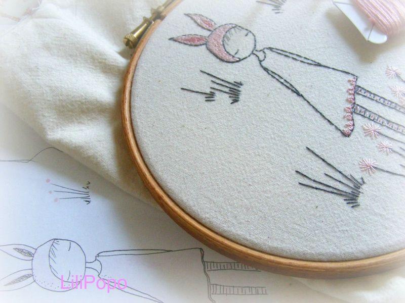 Bunny girl and sketch