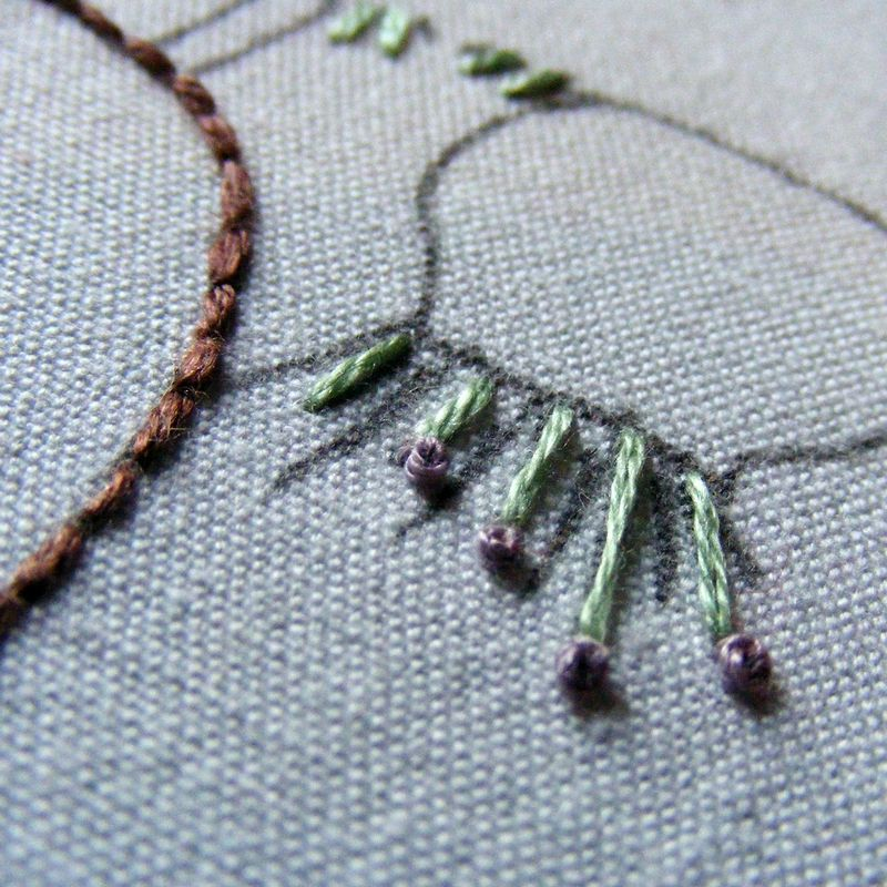 French knot tutorial 7