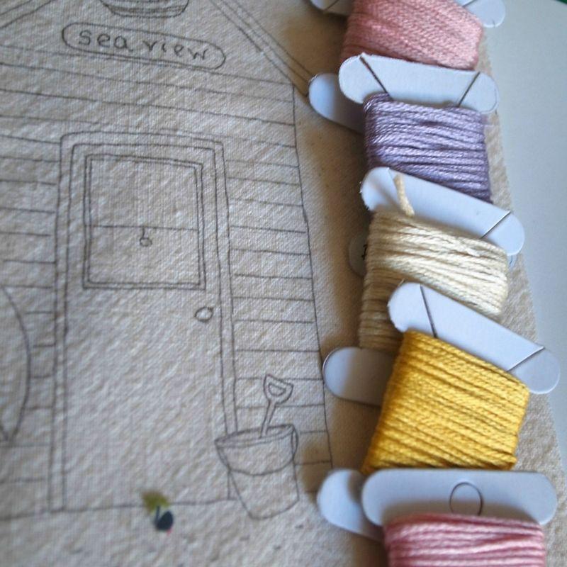Beach huts colours 001