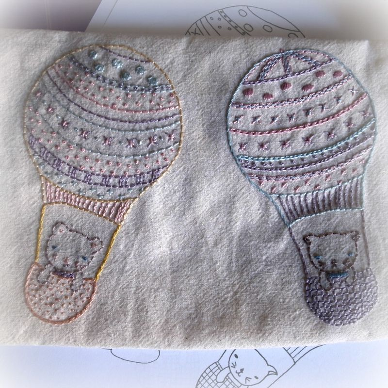 Balloonists with pattern