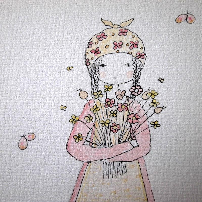 Flower gardener detail etsy