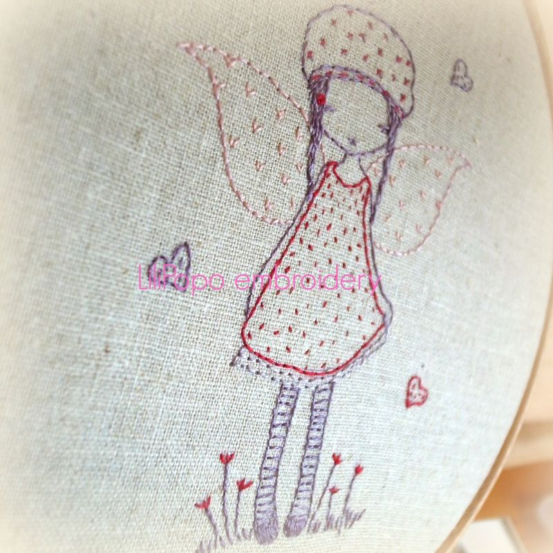 Tiny fairy stitched