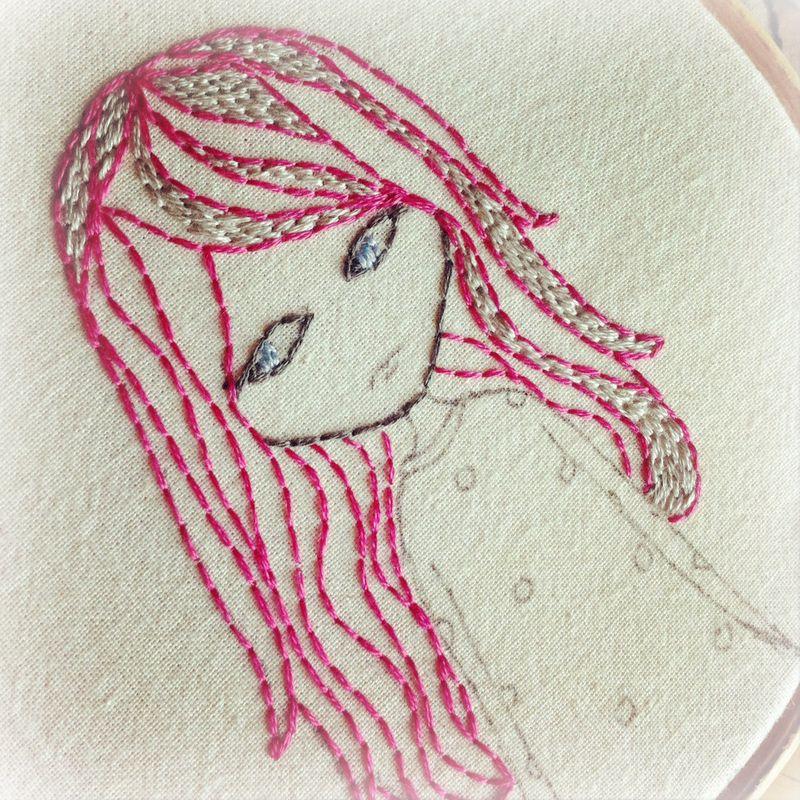 Goth girl pink