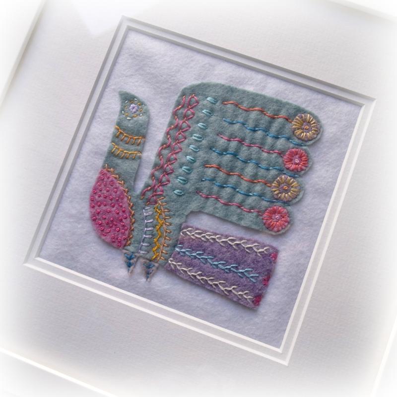 -folk embroidery bird full close up