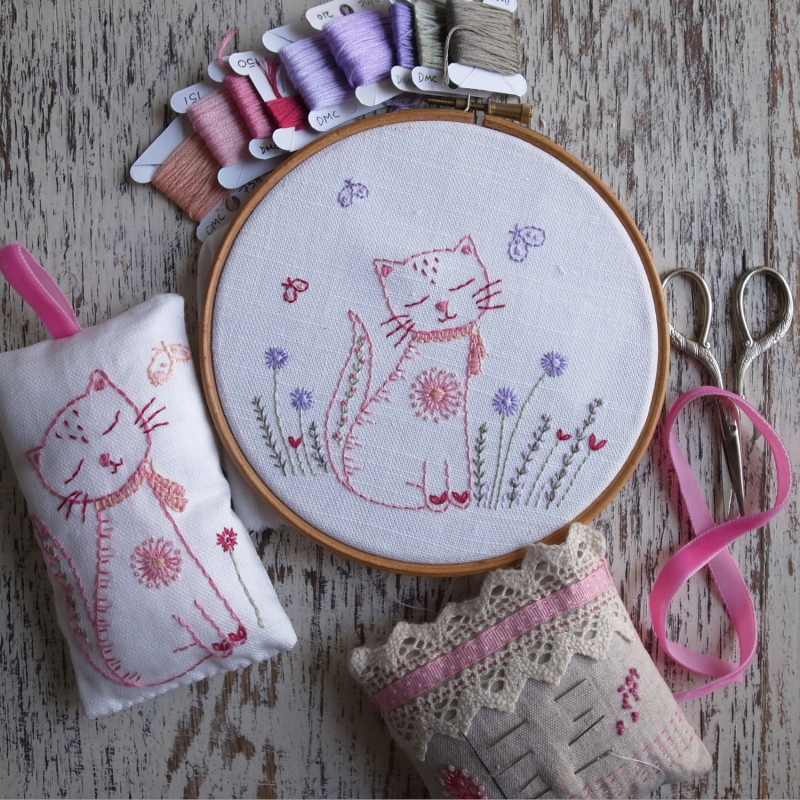 Lilipopo kitten embroidery pattern