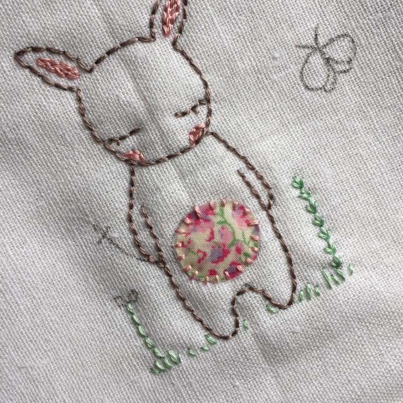 Lilipopo little bunnies applique tummy