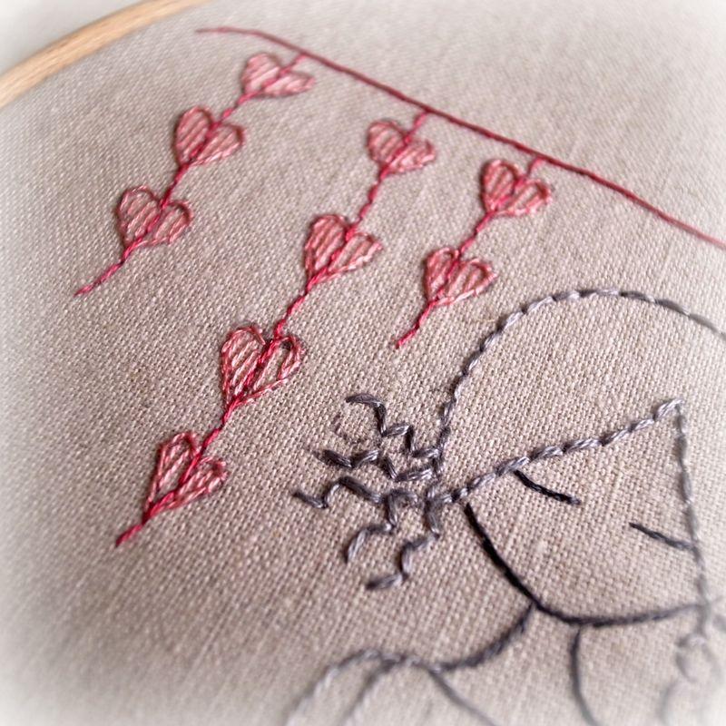 Garden girl hearts
