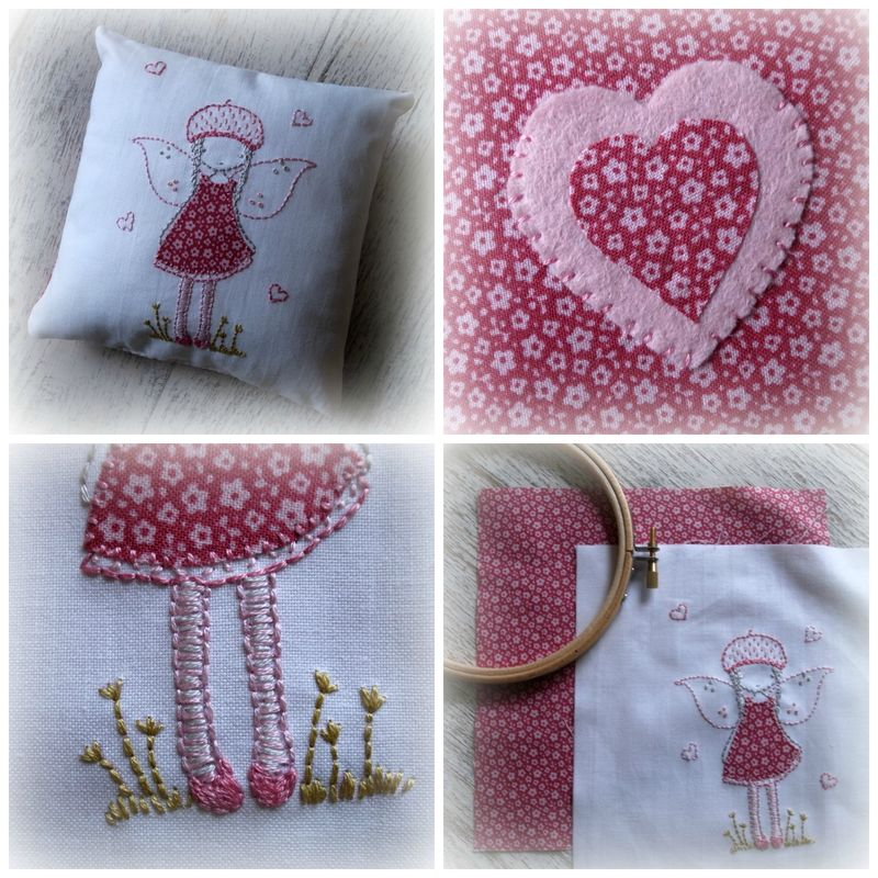 Fairy cushion Collage