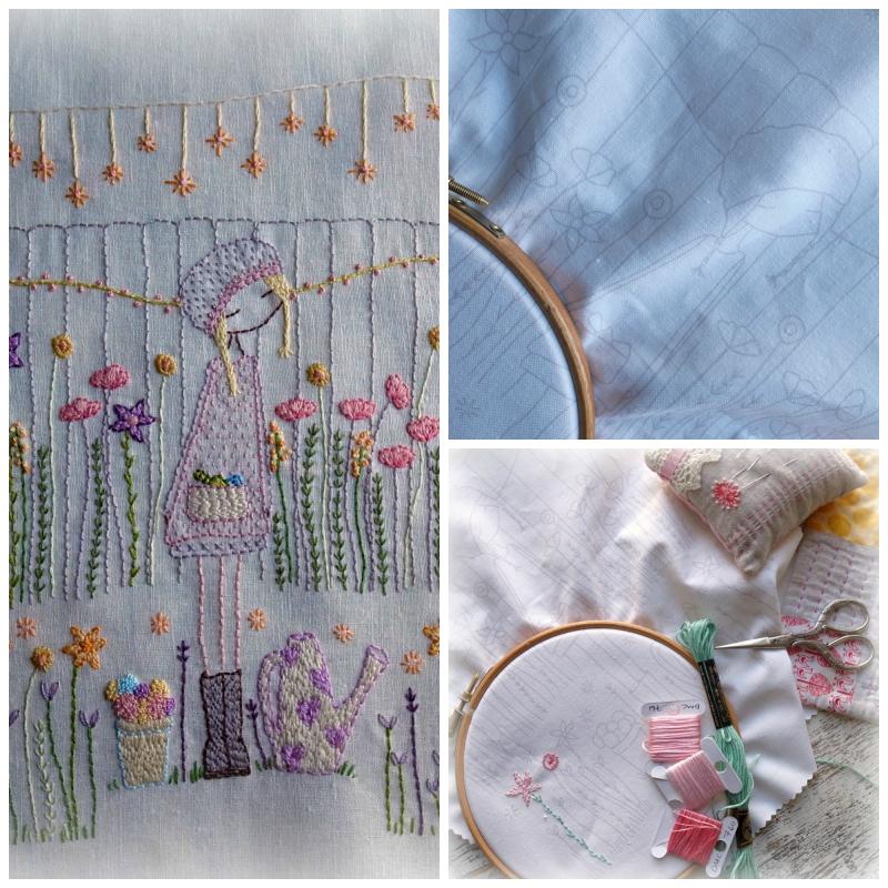 Flower gardener collage