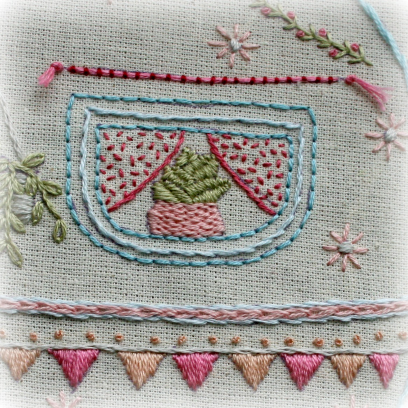 Window and border and bunting