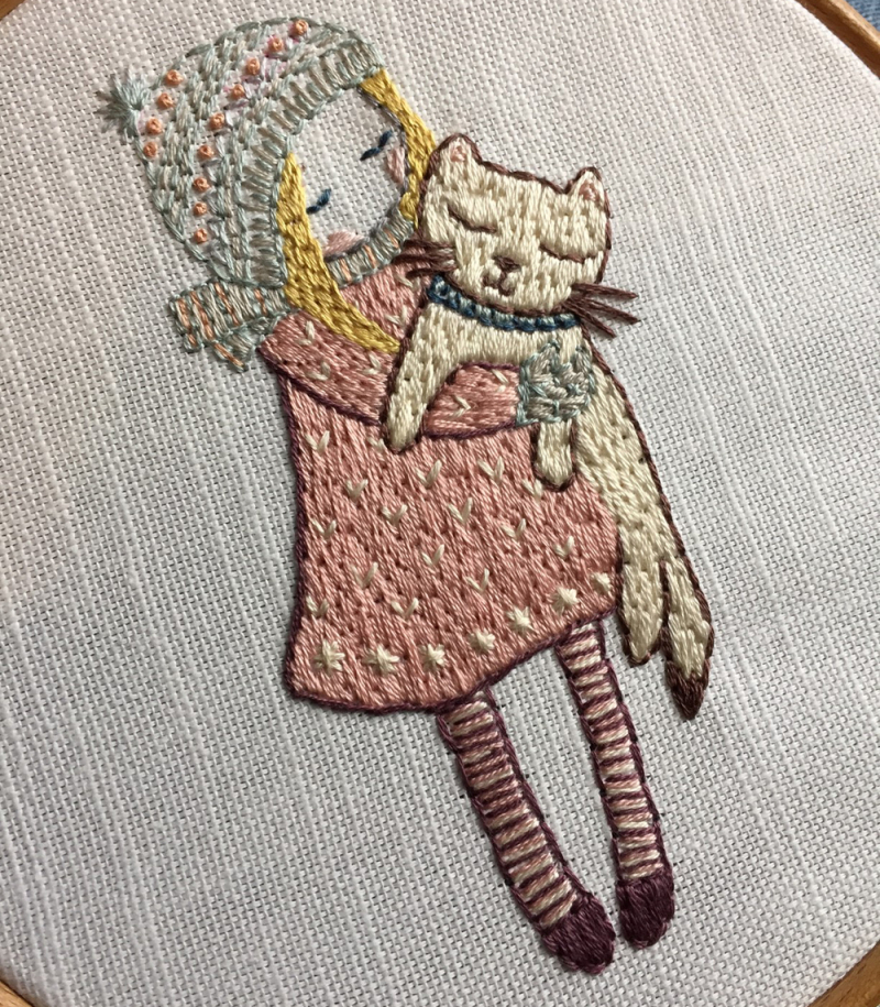 Lilipopo embroidery Kitty full