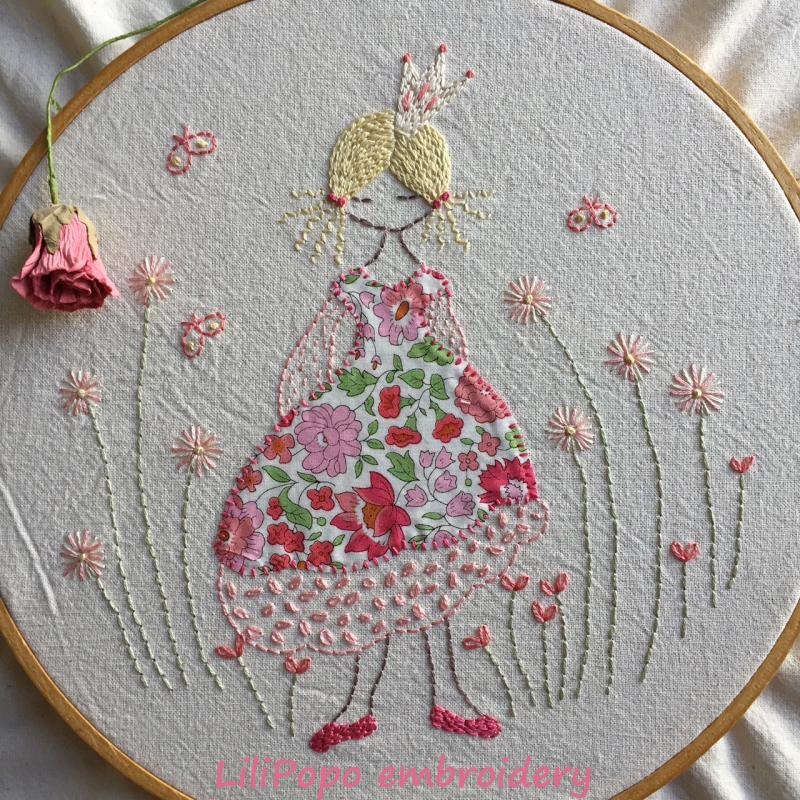 Lilipopo princess embroidery pattern